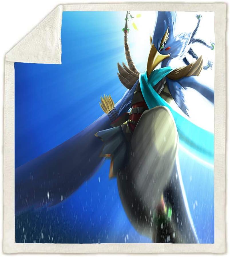100X140CM HLSM The Legend of Zelda Kinder Fleecedecke A01 3D Design Cartoon Anime Bettdecke f/ür Erwachsene Kinder Jungen Geschenke