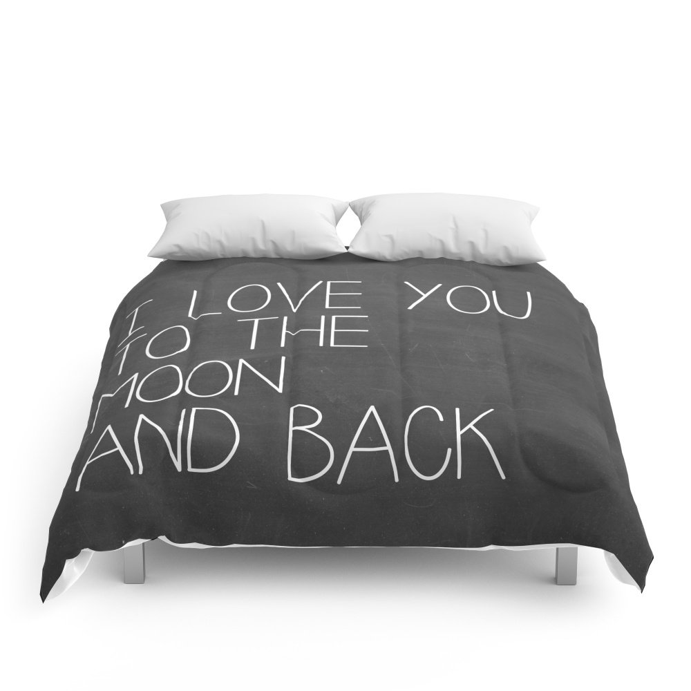Society6 I Love You To The Moon And Back Comforters Queen: 88'' x 88''