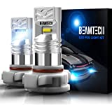 BEAMTECH 5202 Led Fog Light Bulb,H16(European Type,Not Japan Vehicles) CSP Chips 6500K 800 Lumens Xenon White Extremely…