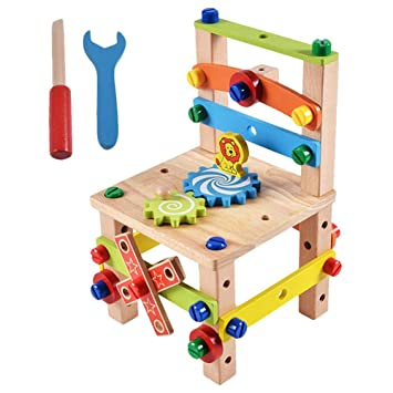 Amazon Com Diy Working Chair Screw Multi Functional Puzzle