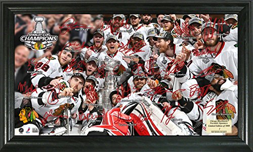 "NHL Chicago Blackhawks 2013 Stanley Cup Champions Signature Rink, 22"" x 15"" x 4"", Black"