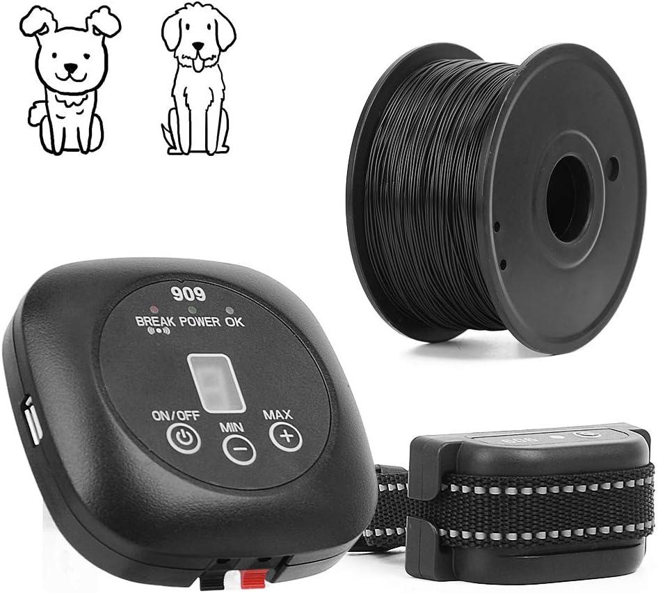 Wodondog Sistema de Valla para Perros Cerca Eléctrica para Perros, Sistema Anti-Escape, Cable de 300 m