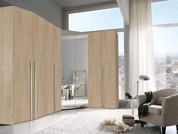 VA771 - Armario modular de rincón, con 8 puertas batientes, espejo, para dormitorio: Amazon.es: Hogar