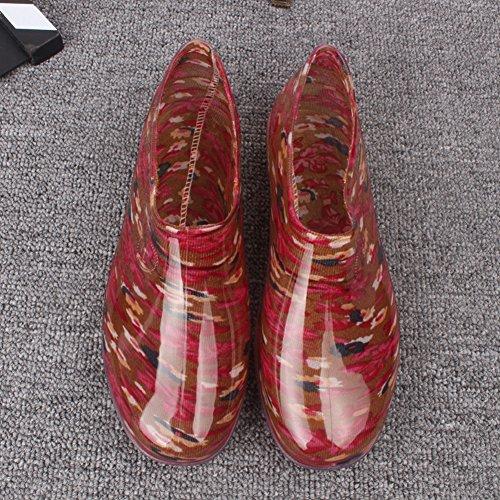 Waterproof Mules Low Women's fereshte Red Clubs Shoes Boots Rain top Garden Zn1qnFBPx