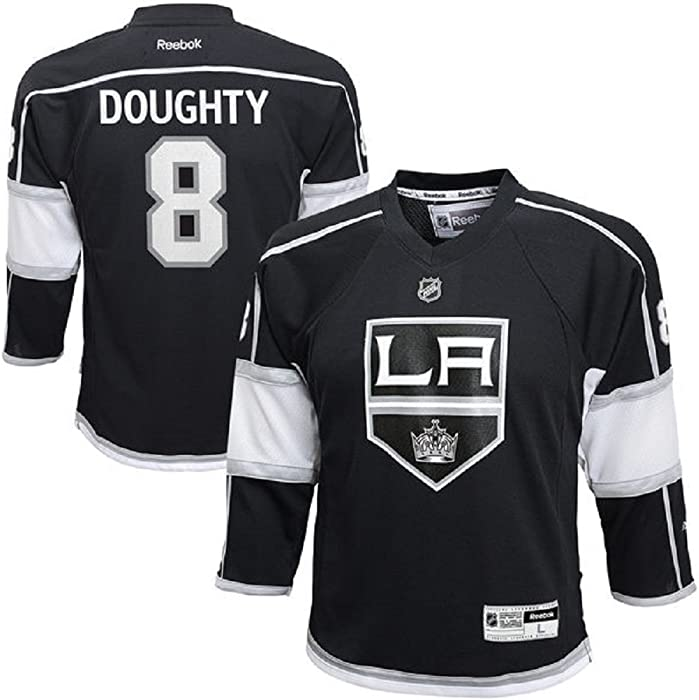d99c2cdc4c9 Amazon.com: Drew Doughty Los Angeles Kings Black NHL Youth Reebok Replica  Home Jersey (Large/X-Large 14-20): Clothing
