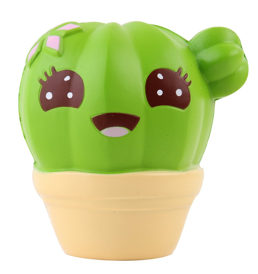 Anboor Squishies Cactus Scented Slow Rising Kawaii Squishies Stress Relief Toy Prime for Collection Gift 1Pcs