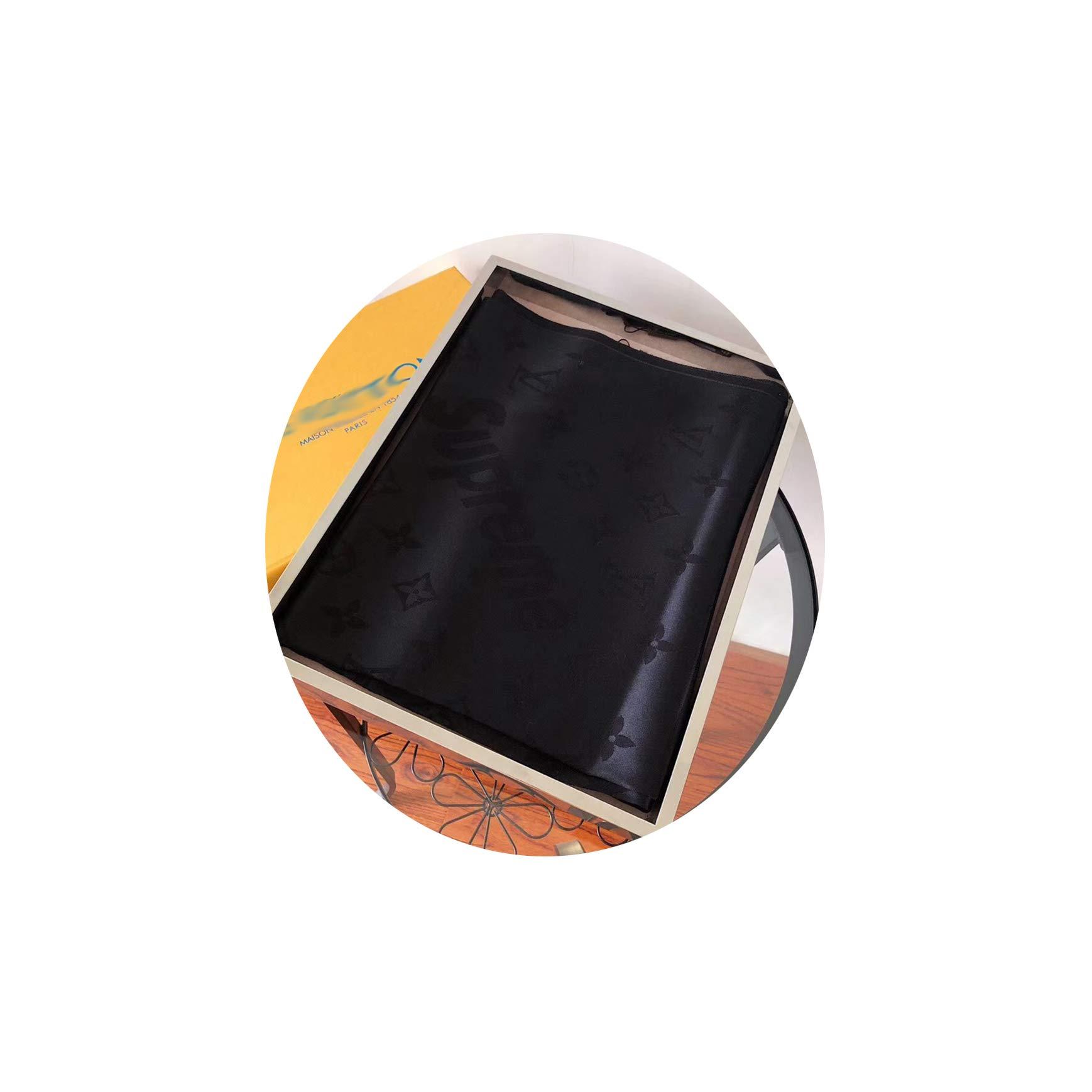 SCOOBEE Cashmere/Wool Scarf Black Warm Large Silk Scarves Fashion Luxury for Women Men(70.9''x27.6'') by SCOOBEE