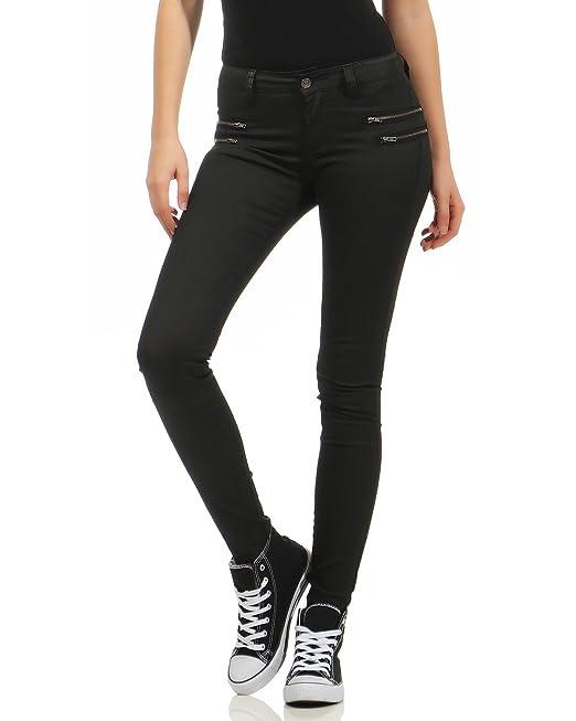 Zarmexx Accesorios Y Mujer Sintético Cuero Pantalones De Hipsters Ropa Vaqueros Jeans Amazon es rrW7n