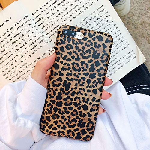 iPhone 8 Plus/iPhone 7 Plus Case ,Opretty Leopard Print Pattern Case Fashion Luxury Cheetah Ultra-Thin Soft TPU Silicone Shockproof Cover for iPhone 8 Plus/iPhone 7 Plus ()