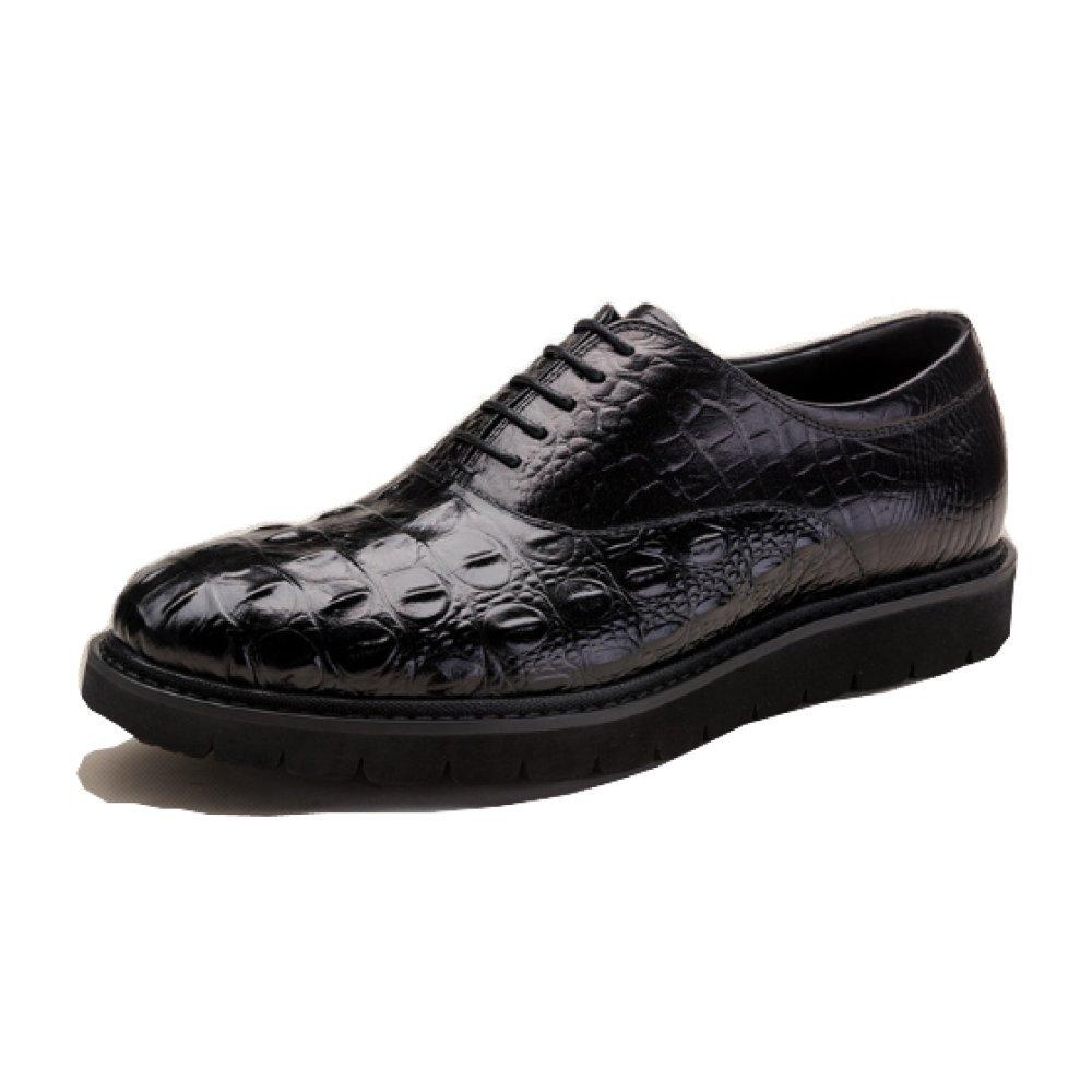 NIUMJ Geschäft Schuhe mit Niedrigem Absatz Frühling und Sommer Atmungsaktiv Tragbar Einzelne Schuhe Leder Mode Niedrige Schuhe Herrenschuhe