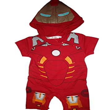 Iron Man Baby Toddler Boy Superhero Comic Romper Party Costume