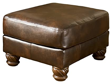 Ashley Furniture Signature Design   Fresco Accent Ottoman   Traditional    Antique Brown