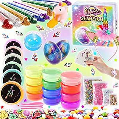 Kit de Slime Kit Brillan en la Oscuridad - 20 Colores Kit de Slime ...