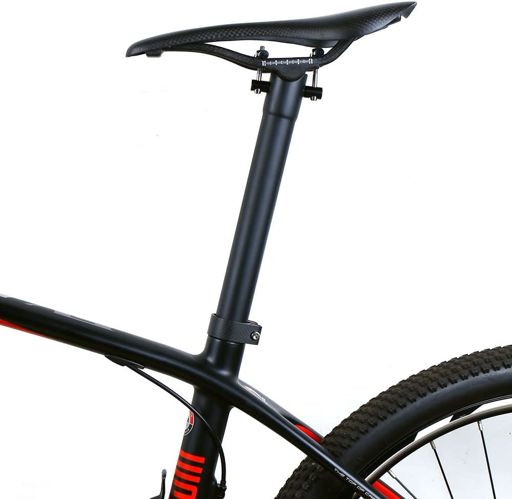 300//350//400 Piezas de Bicicleta ELITA ONE Tijas de sill/ín de Fibra de Carbono Bicicleta de Carretera Bicicleta de Mountain Bike tija 130g-150g UD Mate 27.2//30.8//31.6mm