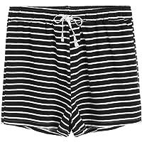 latuza algodón pantalones cortos de pijama de rayas de la mujer