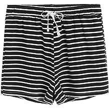 Latuza Women's Cotton Striped Pajama Shorts