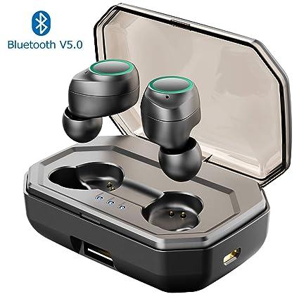 Muzili Auriculares Bluetooth V5.0 Auriculares Inalámbricos Hi-Fi Cascos con Cancelación de Ruido