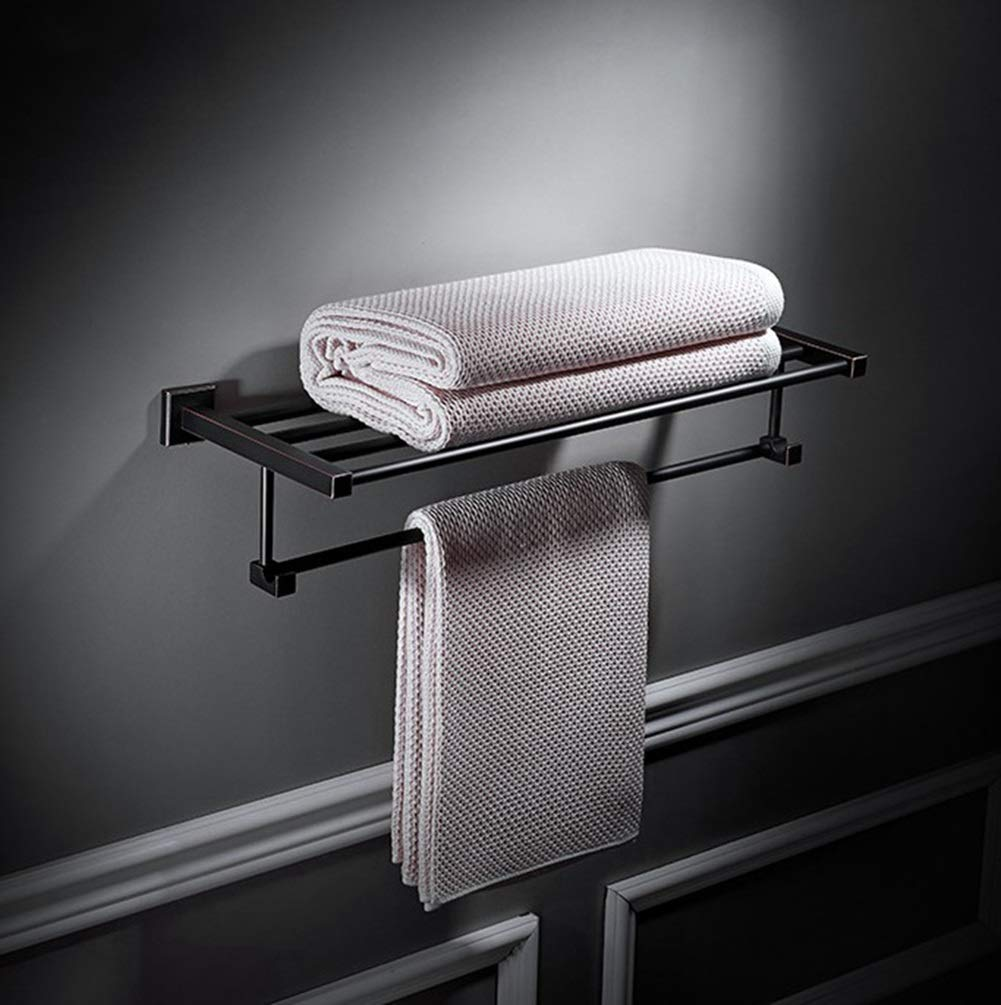 Badaccessoires Color : Black, Size : Single Layer Sets Sakuldes Bad Hardware Handtuchhalter Kupfer Zubehör Retro-minimalistischen Stil