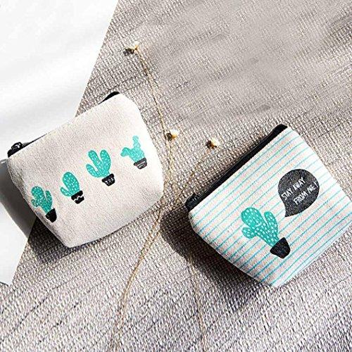 BZLine® Frauen Taschen Handtasche Portemonnaie Geldbörse Tasche Münzen Pouch (B) A uayJ7