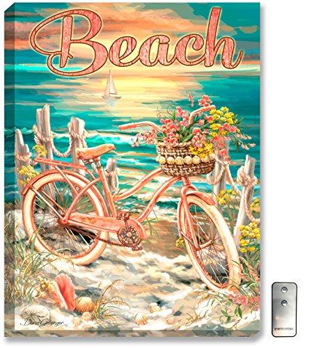 Beach Cruiser - Vintage Bicycle Wall Art - LED Bicycle Art