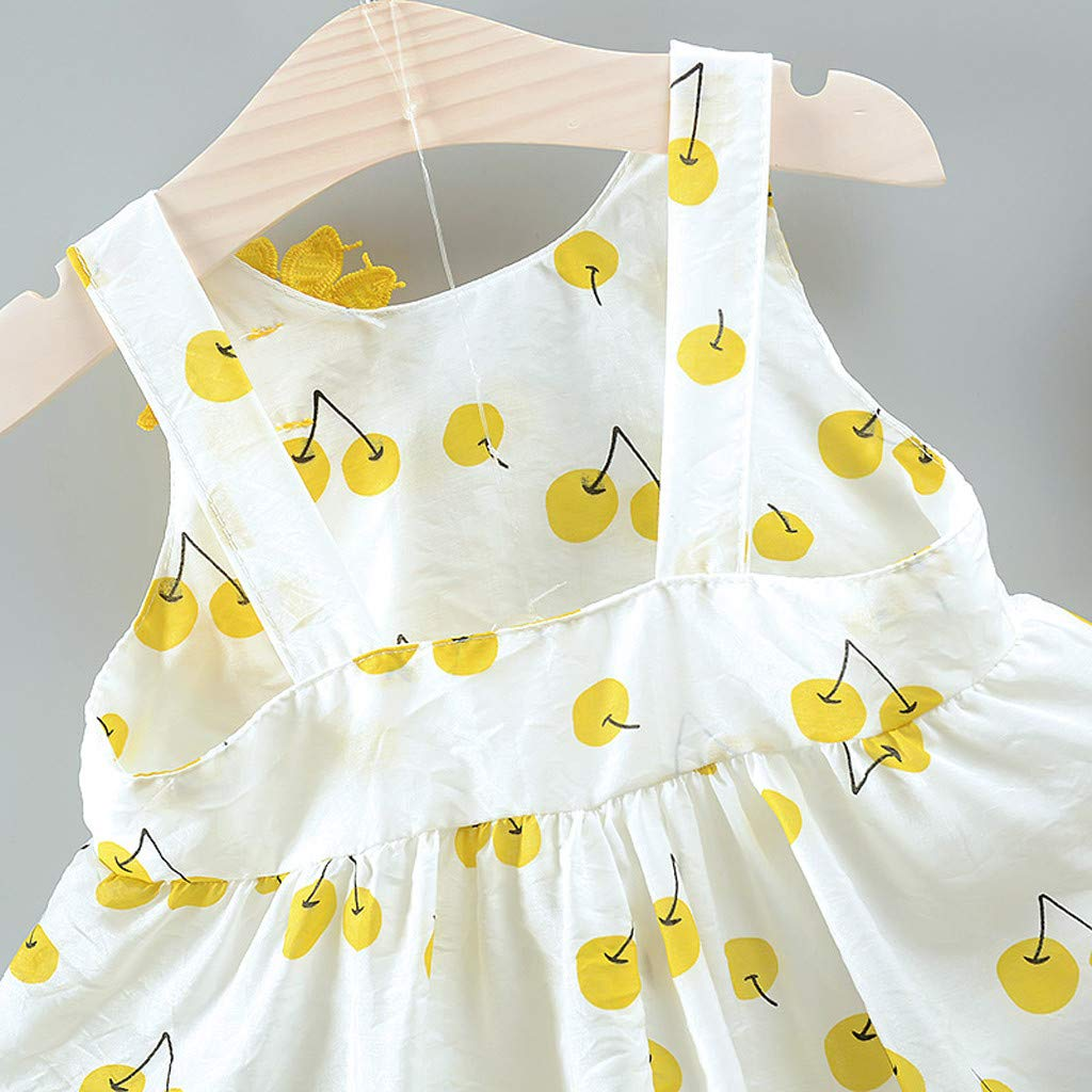 SO-buts Conjunto de Vestido de Princesa y Sombrero para beb/és de 0 a 3 a/ños sin Mangas