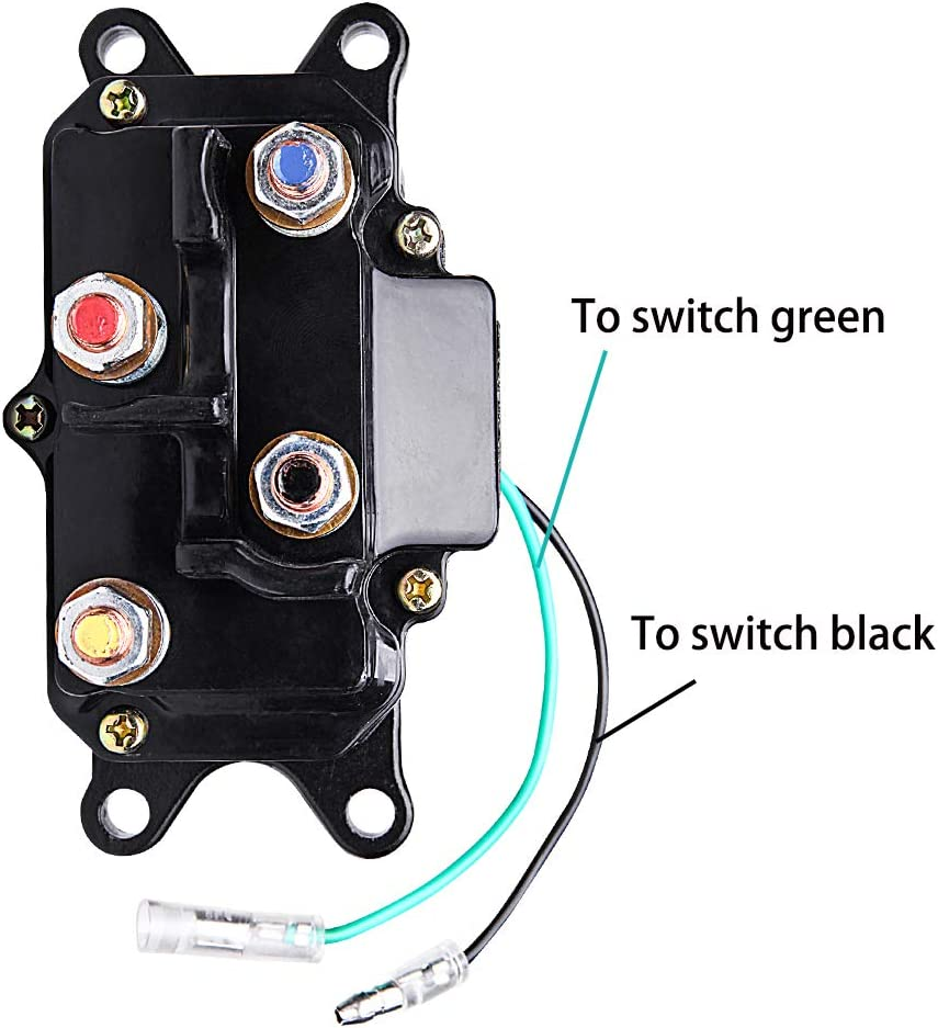 LIEBMAYA 12V 250A Winch Solenoid Relay Winch Contactor Thumb for 2000lbs-5000lbs ATV UTV 4X4 Truck Boat