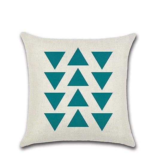 FANZAO Funda De Cojín,Nordic Geométricas Triángulo Azul ...