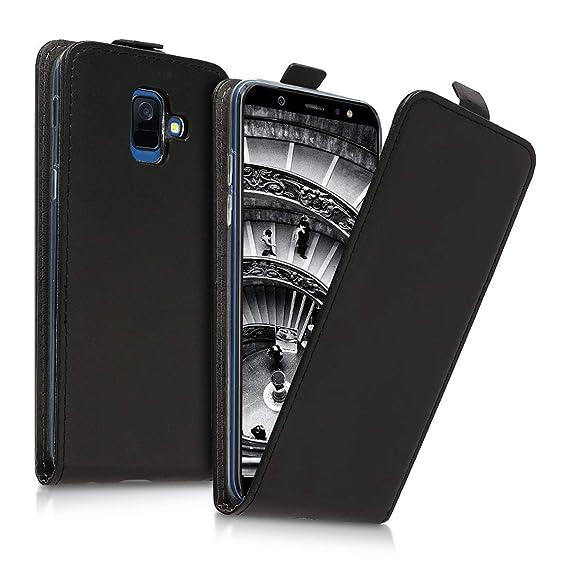 big sale 95976 c7cbd Amazon.com: kwmobile Vertical Flip Case for Samsung Galaxy A6 (2018 ...