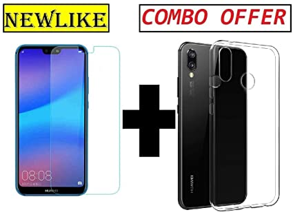 premium selection 806e6 6153a Newlike Huawei Nova 3i Transparent Back Cover Case and Tempered Glass Combo  Pack - for Huawei Nova 3i