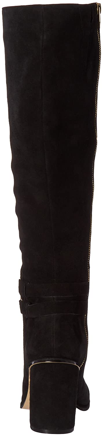 Calvin Klein Women's Camie Engineer Boot B01DXIQQ30 6 B(M) US|Black Suede