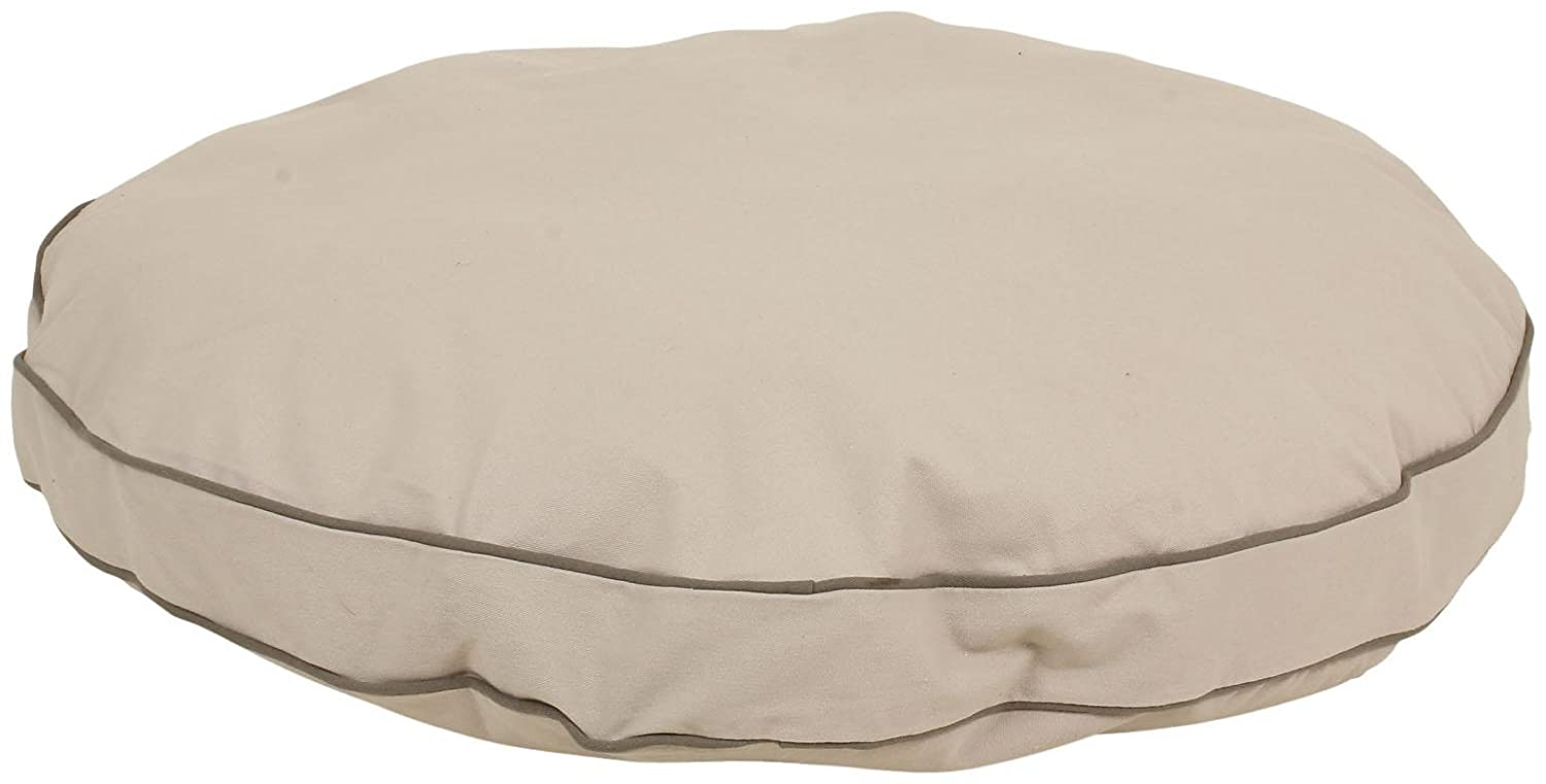 CPC Classic Cotton Twill Round-A-Bout Bed for Pets, 27-Inch, Khaki