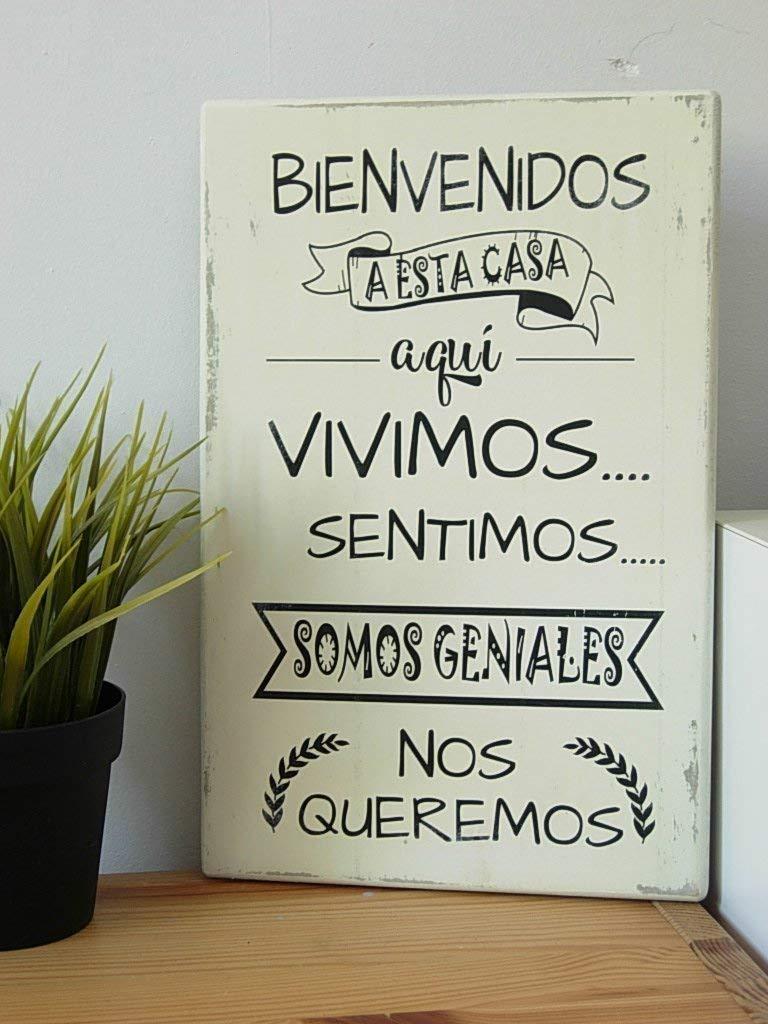 Cuadros de Madera-Estilo Vintage- Con Frases Motivadoras ...