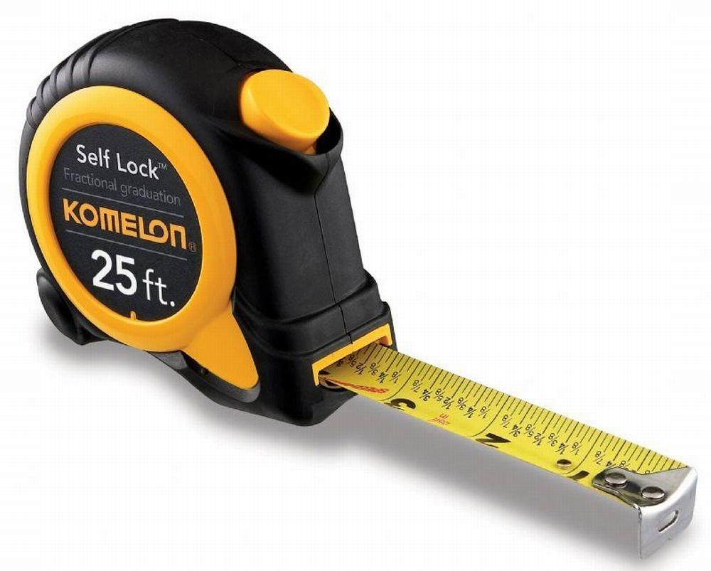 Komelon SL2925 4 Pack 25ft. Self Lock Speed Mark Tape Measure