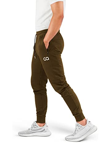 38e91e7393e Contour Athletics Men's Joggers (Cruise) Sweatpants Men's Active Sports  Running Workout Pant With Zipper