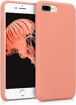 kwmobile Coque pour Apple iPhone 7 Plus / 8 Plus - Coque Étui Silicone - Housse de téléphone Corail