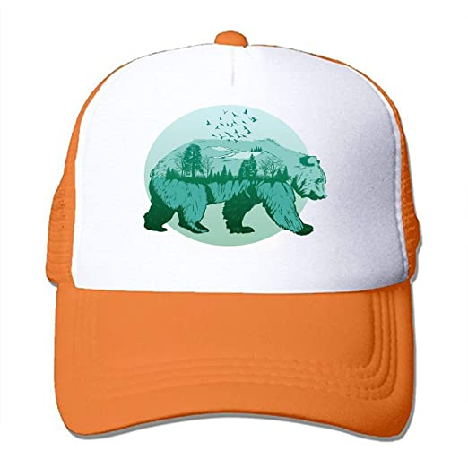 eb076cbc Image Unavailable. Image not available for. Color: TIANYI Unisex Wild Bears  and Forests Baseball Cap Vintage Adjustable Dad Hat