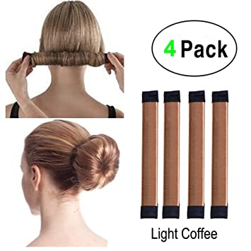 Super Simple Hair Bun Maker Set 4pcs Women Kids Easy Hair Styling