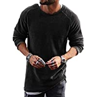 Macondoo Men's Fall Winter Pullover Jumper Long Sleeve Round-Neck Knitted Sweaters