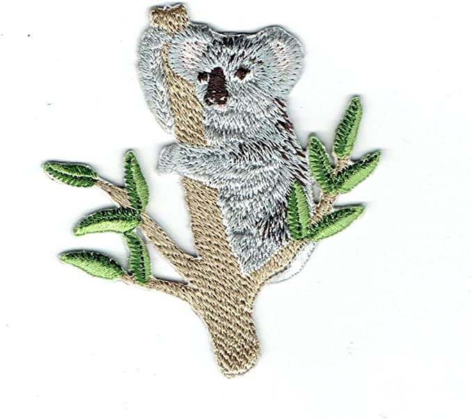 """1.5x1.5/"""" New Made to order Cute adorable Koala Bear Iron On Patch"""