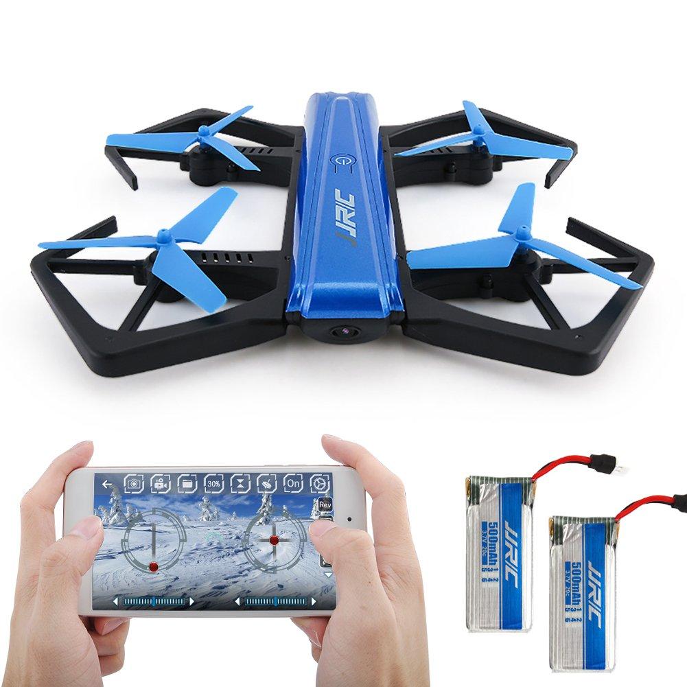 Drohne mit Kamera Live Übertragung APP-Steuer Wifi FPV alle G-Sensor Headless Modus für alle FPV Stufen-Piloten Spielzeug Geschenk Blau JJRC H43WH f32afc