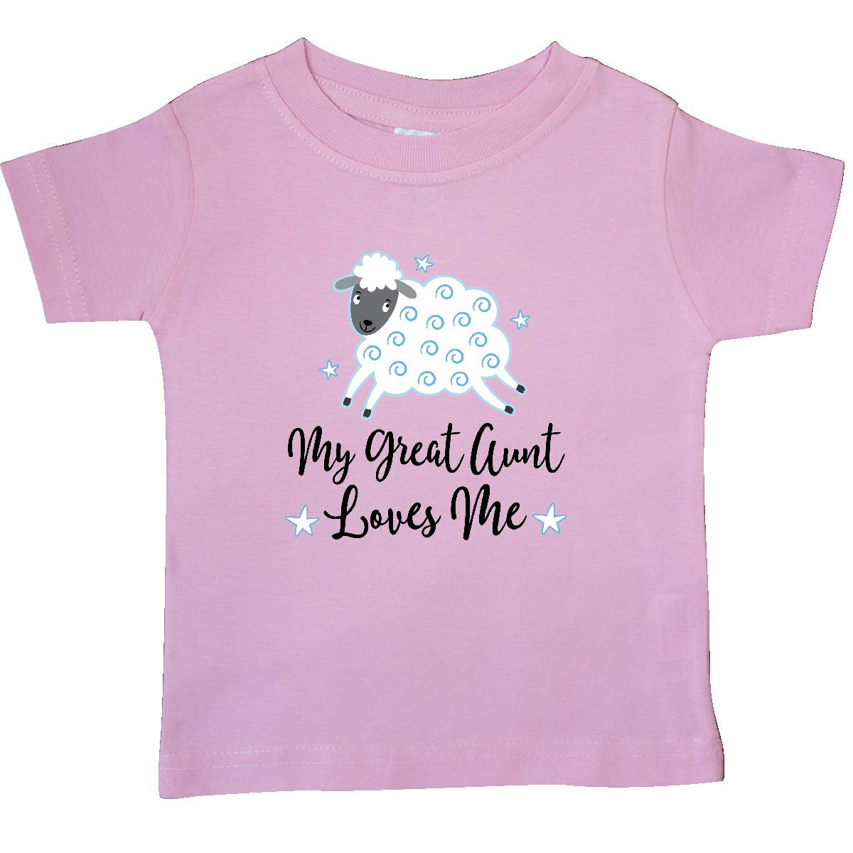 inktastic My Great Aunt Loves Me Lamb Baby T-Shirt
