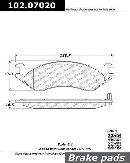 Disc Brake Pad Set-C-TEK Metallic Brake Pads Front,Rear Centric 102.07020