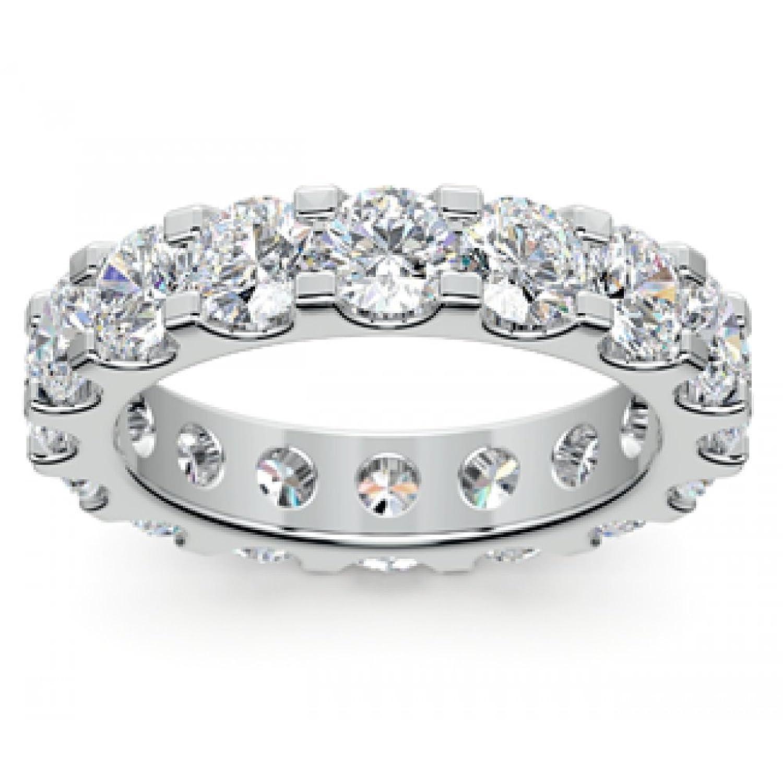 b ie UTF8&node cheap womens wedding rings 4 00 ct Ladies Round Cut Diamond Eternity Wedding Band Ring in Platinum