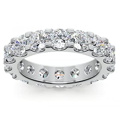 400 Ct Ladies Round Cut Diamond Eternity Wedding Band Ring In Platinum Size 35