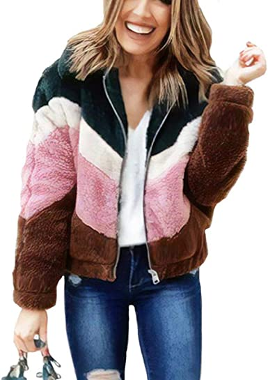 Womens Autumn Winter Fur Fluffy Warm Cardigans Coat Waterfall Jacket Outwear Lot