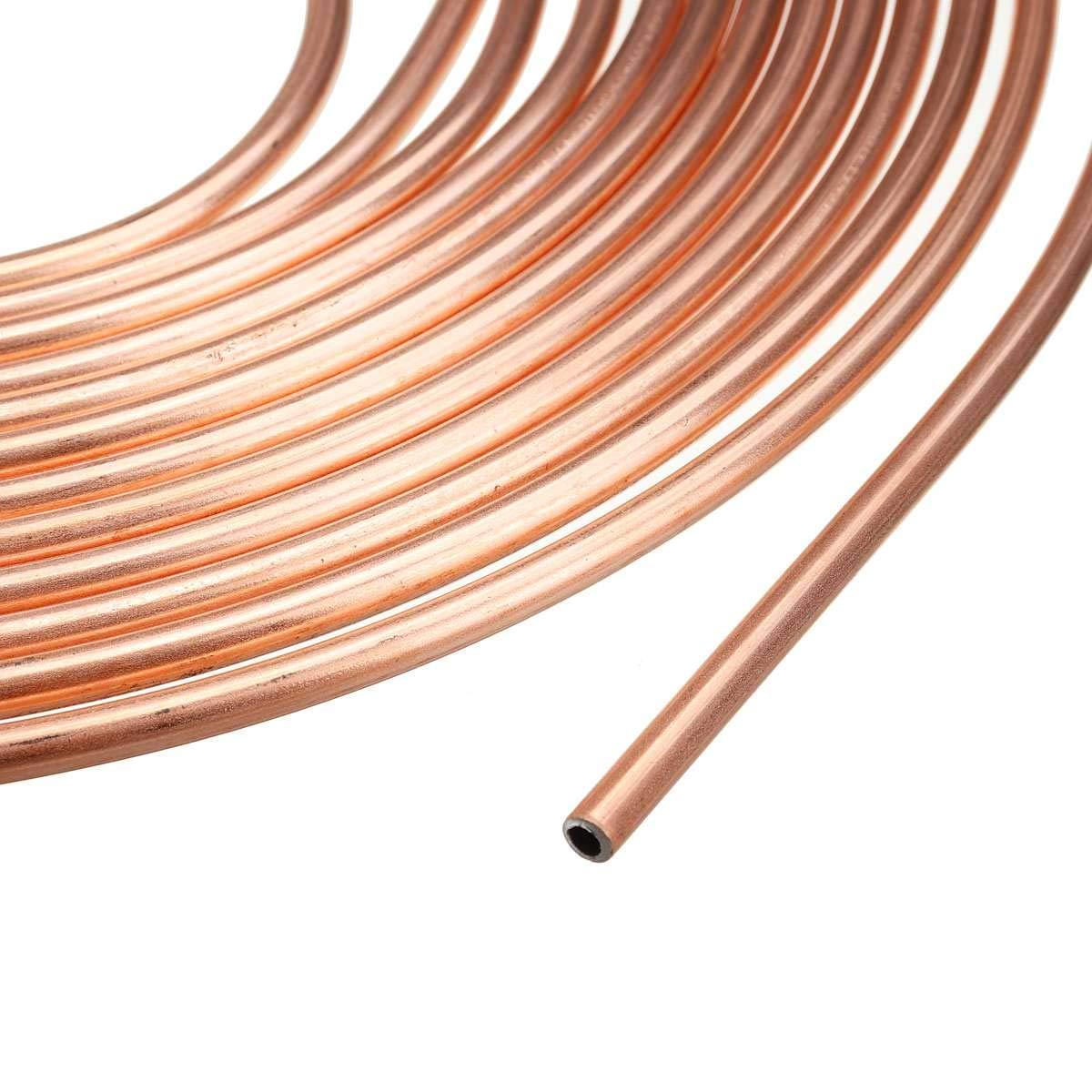 Tubo per freno in rame 10 m Kit di tubi freno di ricambio per auto da 3//16 con 20 dadi. AnvFlik