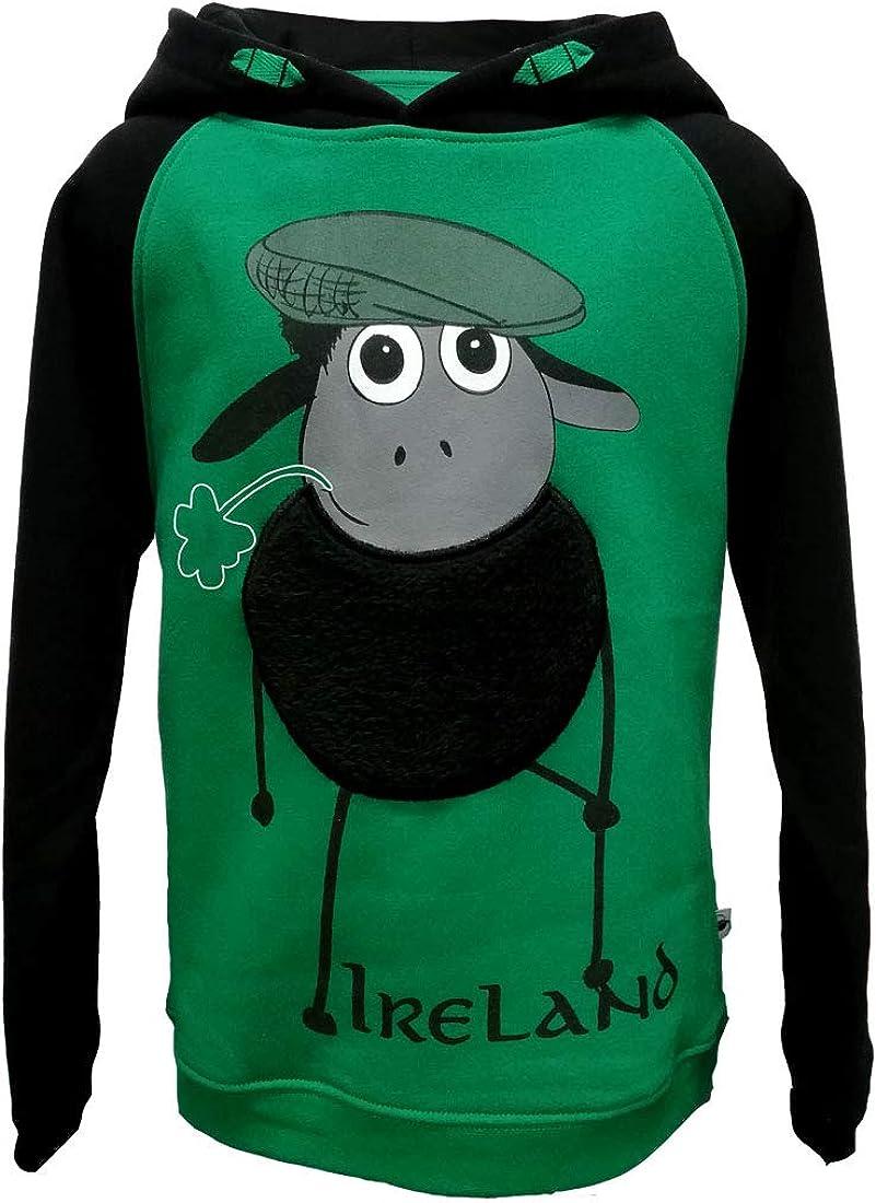 Traditional Craft Limited Emerald//Black Farmer Sheep Raglan Hoodie-1//2 1//2