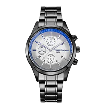 Relojes Yes Mile Luxus Business Casual Relojes Fase lunar Agua Densidad multifunción cuarzo reloj de pulsera para hombre/mujer: Amazon.es: Instrumentos ...