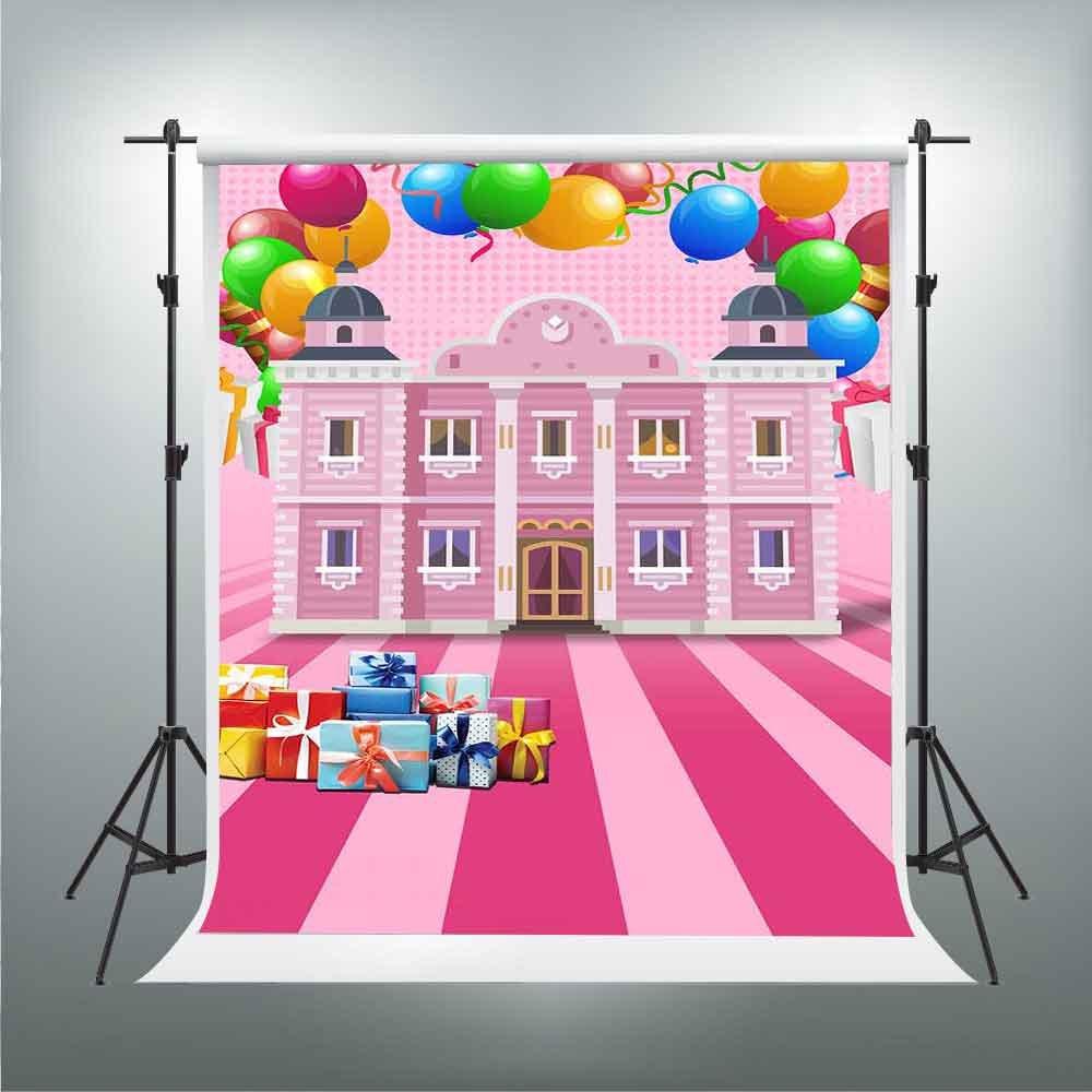 Gesen Backdrop 5 x 7ftピンク子供の公園のカラフルなバルーンギフト写真背景子供のテーマパーティー写真の背景幕ビデオStudio Props tmge133   B07DMF8DN7