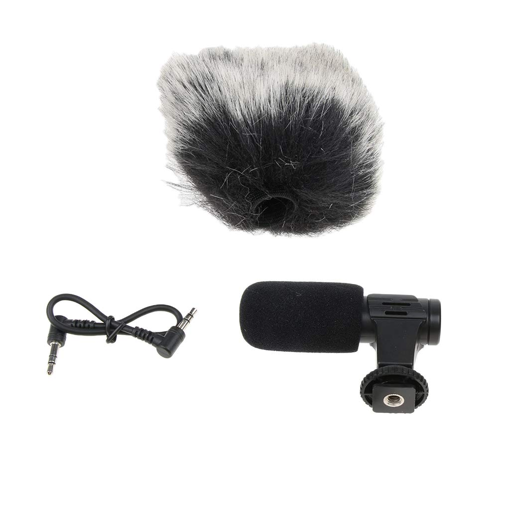 Baosity MIC-06 Mini External Recording Interview Microphone Mic for Canon Nikon Sony D-SLR Camera Mobile Phone